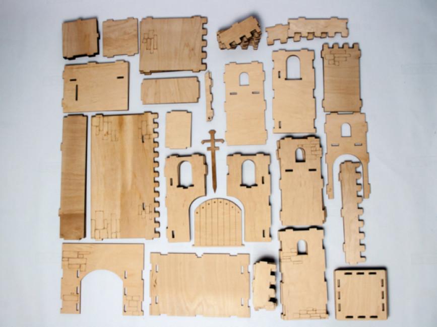 Фортеця. Дерев'яний 3D конструктор