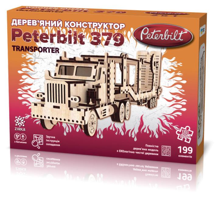 Дерев'яний 3d конструктор 'Peterbilt' + автовоз