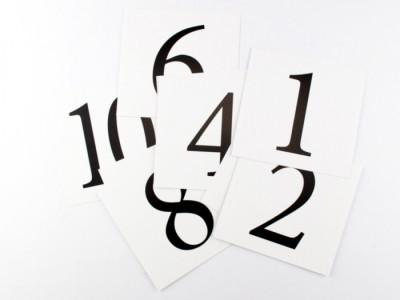 Картки міні. Цифри