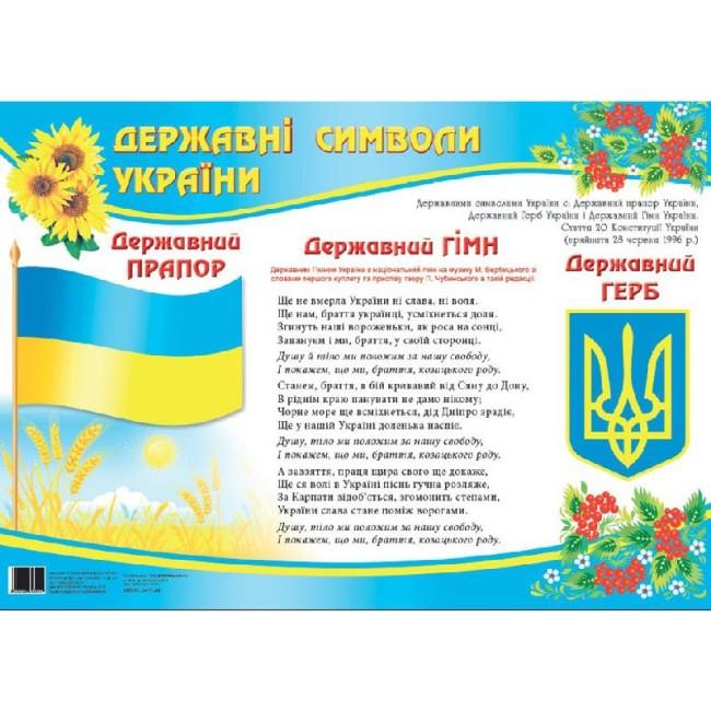 Плакат 'Державні символи України'