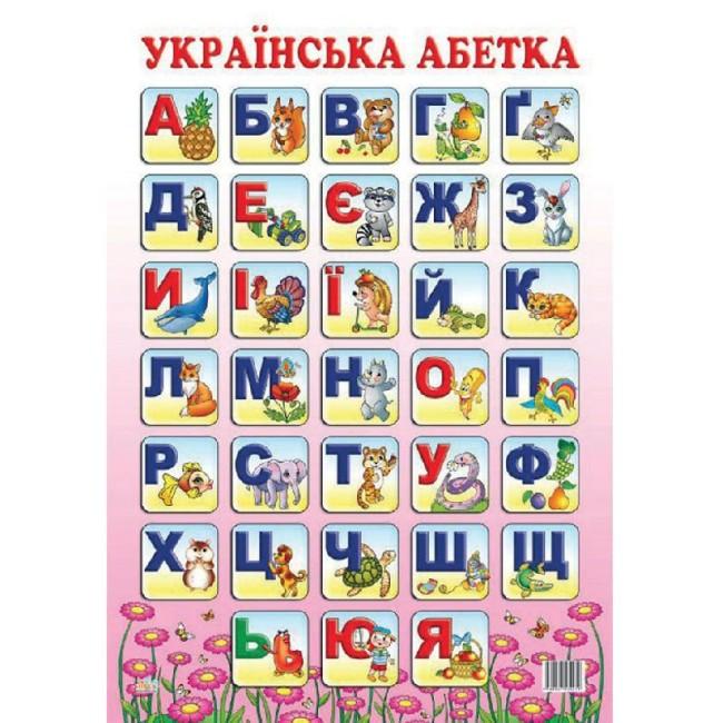 Плакат 'Українська абетка'