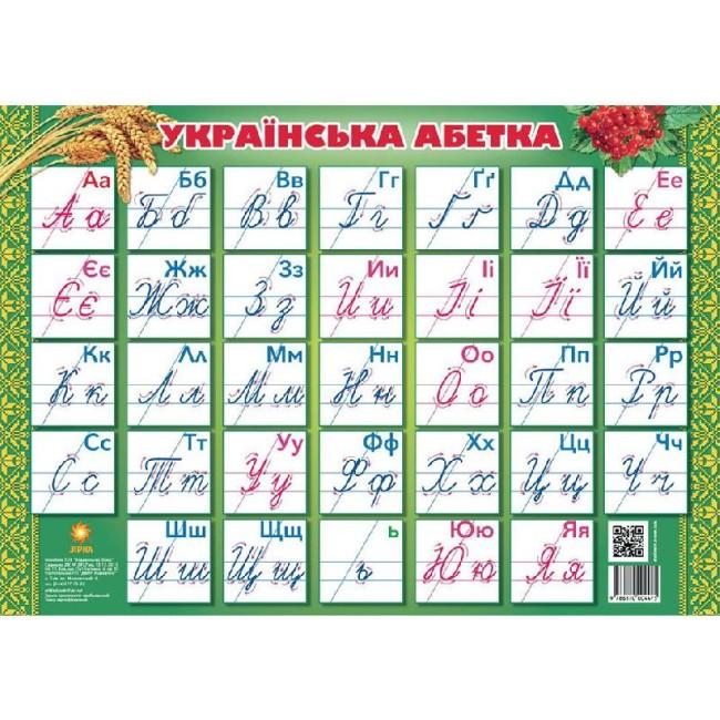 Плакат 'Українська абетка' прописна