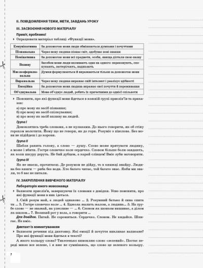 Українська мова. 8 клас. Нова програма