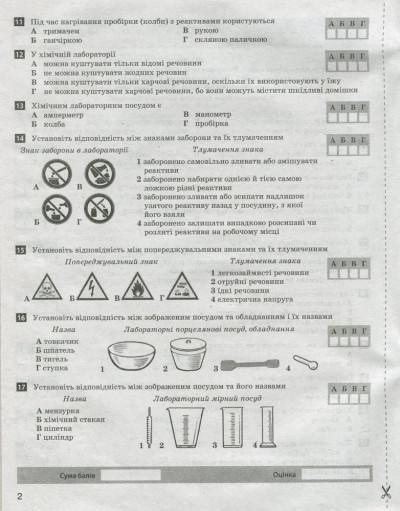 Тестовий контроль результатів навчання. Хімія. 7 клас + Тематичний контроль і практичні роботи