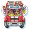 На дороге. Отважная пожарная машина