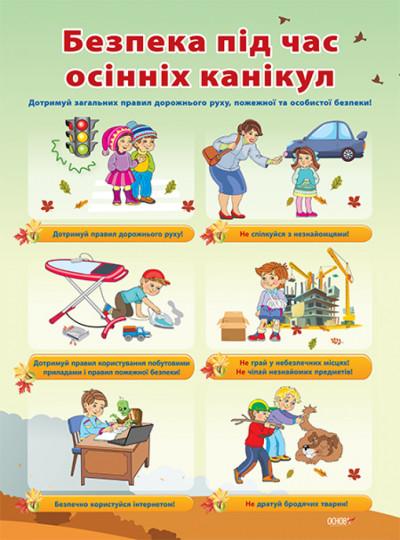 Комплект плакатів 'Павила безпеки під час канікул'