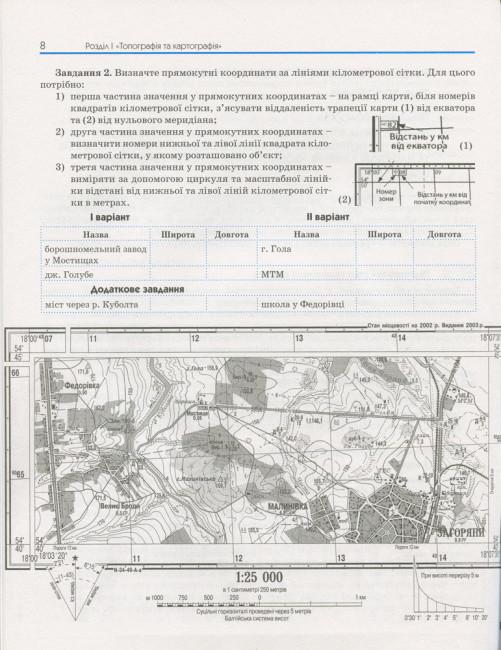Географія. 11 клас. Зошит для практичних робіт. Рівень стандарту