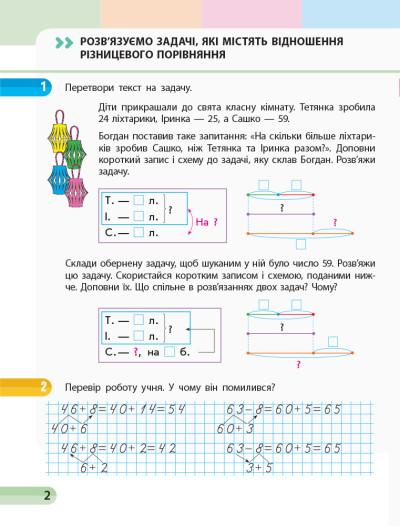 НУШ Математика. 2 клас. Навчальний зошит У 4 частинах. ЧАСТИНА 3