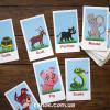Набір карток. Вчимо англійську мову. Тварини