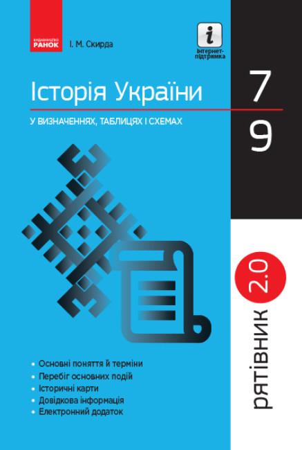 Рятівник 2.0. Історія України у визначеннях, таблицях і схемах. 7—9 класи