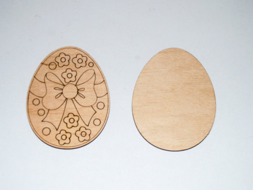 Яйце пасхальне звичайне в асортименті. Дерев'яна розмальовка (1 шт.)