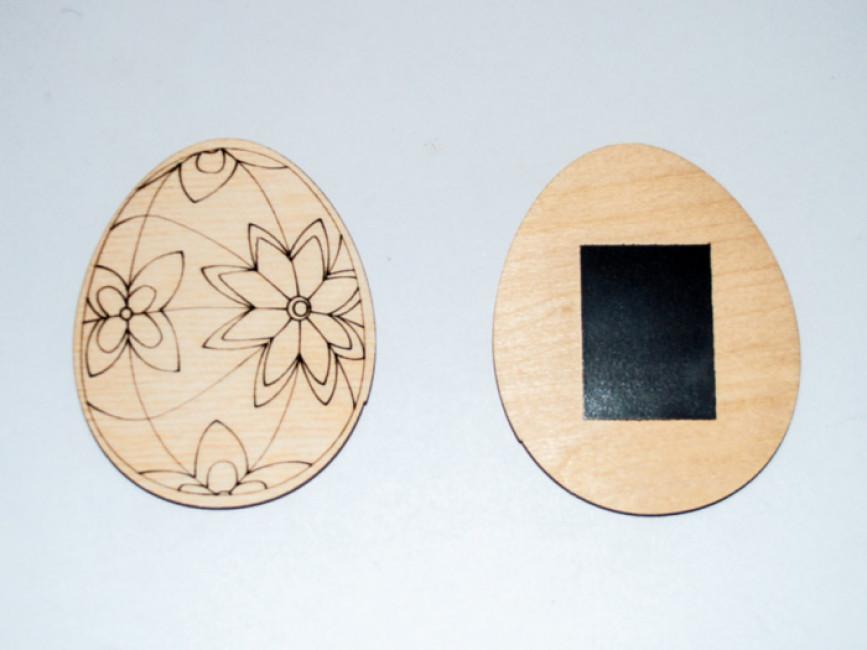 Яйце пасхальне звичайне з магнітом в асортименті. Дерев'яна розмальовка (1 шт.)