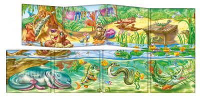 Дивись та вчись. Книжки-килимки. Хто живе в річці?