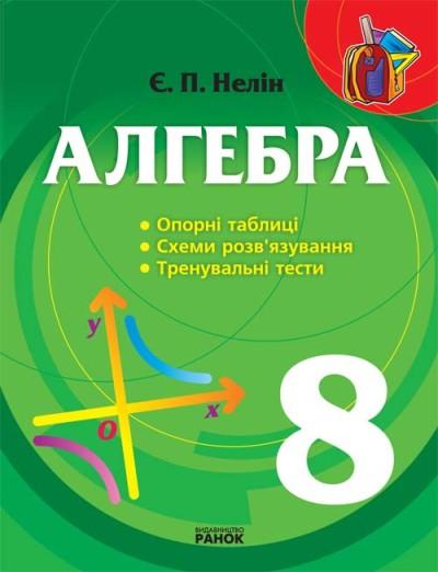 Алгебра  8 кл. Опорні таблиці, схеми розв'язування, тренувальні тести