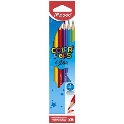 Набiр кольорових олiвців «Color Peps» «Maped» (6штук)