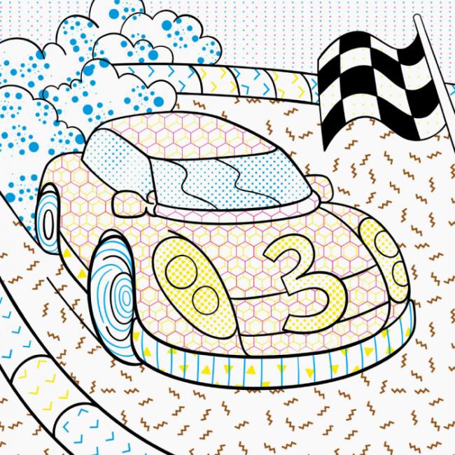 Нові водяні розмальовки. Транспорт