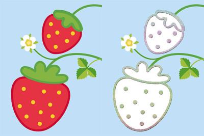 Тактильна розмальовка. Фрукти та ягоди