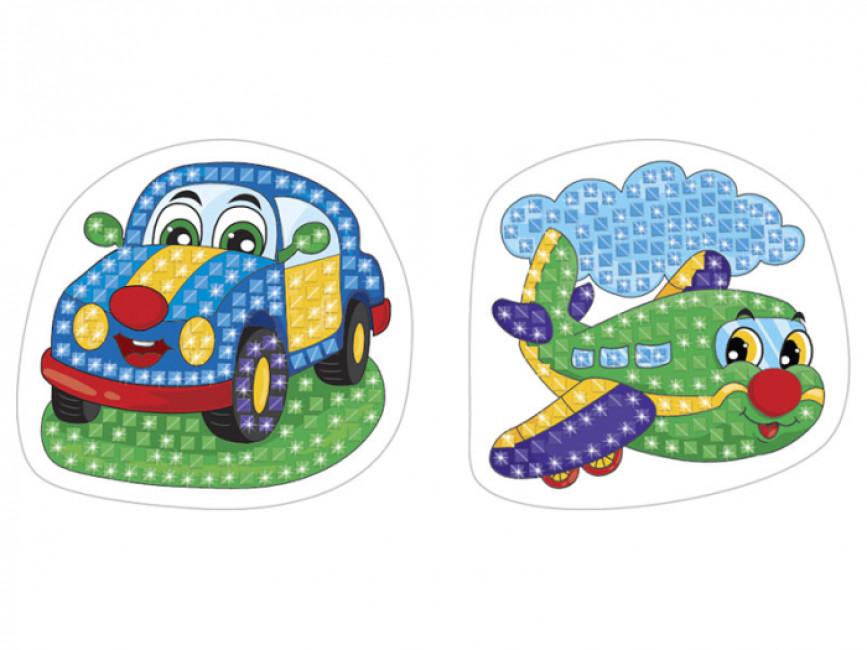 Стікерна мозаїка №3. Машина та Літак