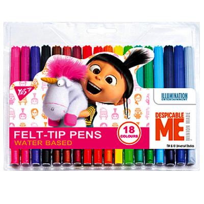Фломастери «Minions Fluffy» (18 кольорів)