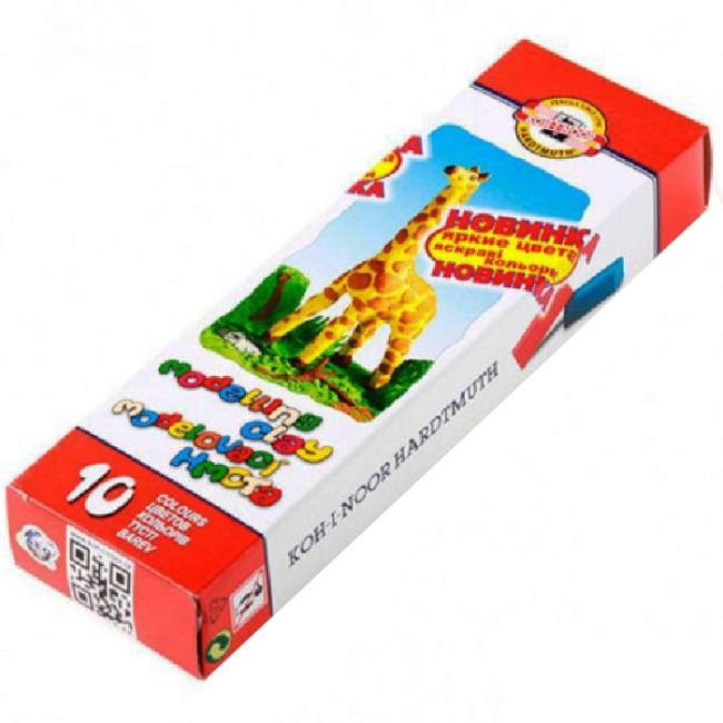 Пластилін «Koh-i-Noor» «Жираф» (10 кольорів 200гр)