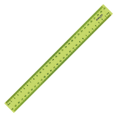 Лінійка пластикова «Delta» кольорова (30 см., жовта)