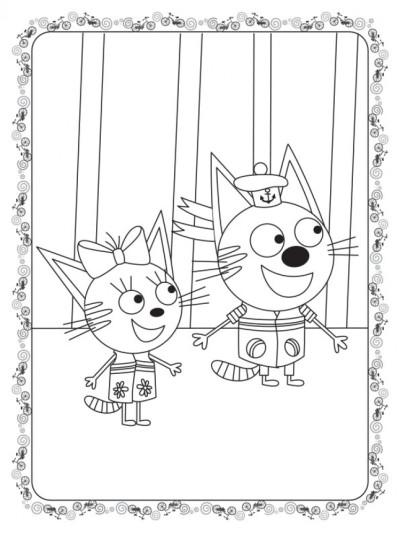 Кольоровий штрих. Три коти. Велосипед
