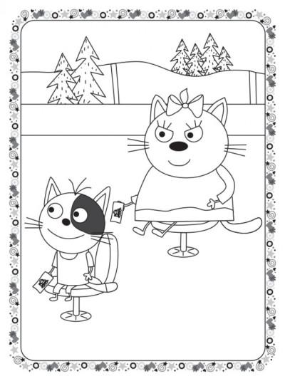 Кольоровий штрих. Три коти. Залізниця