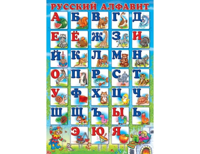 Русский алфавит (печатный) с рисунками