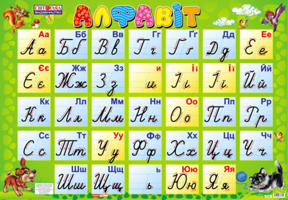 Українська абетка (прописна)